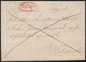 ca. 1840 Franco piros/red Tállya