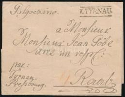 1755 Levél / Cover V.TYRNAU - Raab