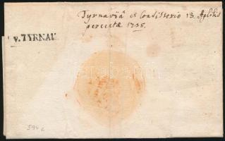 1755 Levél teljes tartalommal / Cover with full content v.TYRNAU