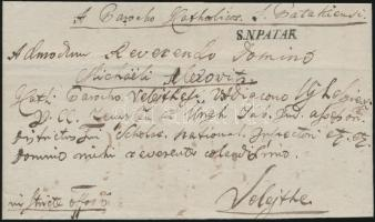 1841 Teljes levél / Cover S.N.PATAK - Velejte