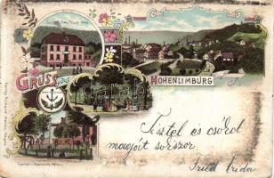 1899 Hohenlimburg, Gasthof Carl Möller, Garten von gastwirth Möller, Art Nouveau, floral, litho