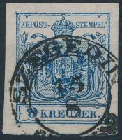 9kr HP IIIb dark blue, fine print