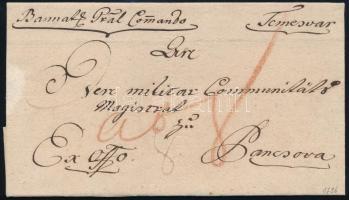 1796 Katonai / Military ex offo Temesvár - Pancsova
