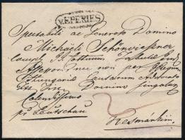 ~1820 Portós levél / Unpaid cover v.EPERIES - Késmárk