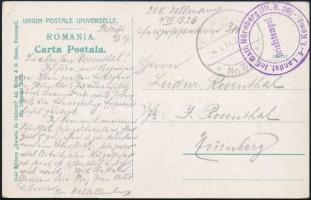 Tábori posta képeslap Romániából, Field postcard from Romania