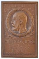 Rigele Alajos (1879-1940) 1910. Pirchala Imre negyven éves működésének emlékére Cu plakett (76x51mm) T:2 HP 4501.