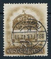 1938 Hazatérés 70f felülnyomat nélkül, hamisítvány összeghasonlító célra + 2 támpéldány / forgery for comparison