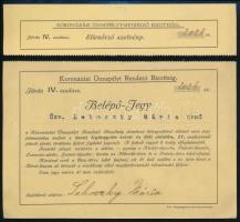 1916 Belépő jegy IV. Károly koronázási ünnepélyére, aláírással, pecséttel, 14x16 cm