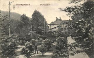1914 Rozsnyófürdő, Roznava-kupele; park részlet / park view