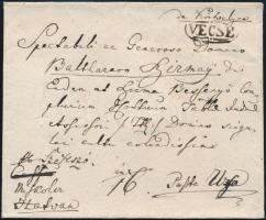 ~1830 Portós levél / Unpaid cover VECSE