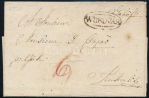 1820 Portós levél / Unpaid cover WUKOVAR