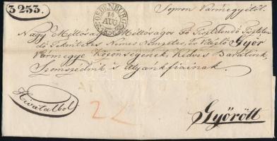 1838 Ex offo OEDENBURG - Győr