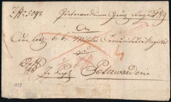 1829 Ex offo piros/red MITROVICZ - Peterwardein