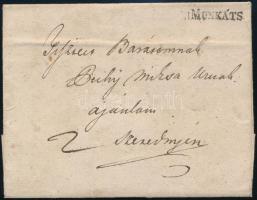 ~1830 Portós levél / Unpaid cover v.MUNKÁTS - Szerednye