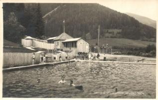 Aflenz, Höhenluft-Kurort Bad. Fotoatelier Alois Machnitsch 1928. / spa with swimming pool
