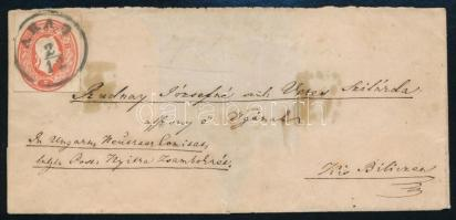 ~1861 5kr PS-cutting on shortened cover