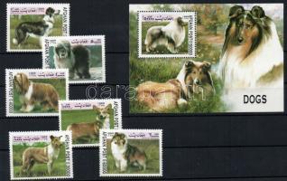 1999 Kutyák Mi 1856-1861+blokk 109