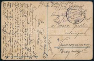1918 Képeslap / Postcard K.u.K Kriegsmarine S.M.S Kaiser Franz Josef I + EP 267
