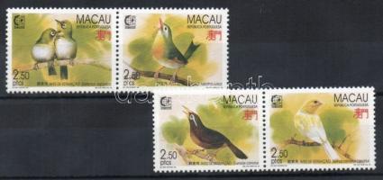 1995 SINGAPORE´95 bélyegkiállítás, énekesmadarak Mi 814-817
