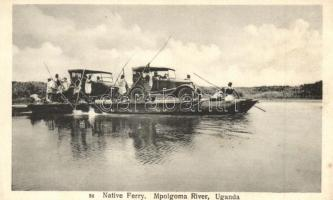 Mpologoma (Mpolgoma) River, Native ferry with automobiles