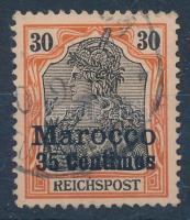 Marokkó 1900 Mi 12 Pf II lemezhibás bélyeg / plate variety (Mi EUR 600,-)