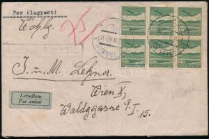 1932 Légi levél / Airmail cover Bratislava - Wien