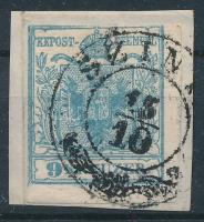 1850 9kr HP I ívszéli nyomat ,,SZIN(YE)