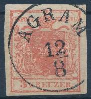 1850 3kr HP I látványosan kiemelt középrész ,,AGRAM