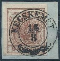 1850 6kr HP I lemezhibás bélyeg ,,KECSKEMÉT