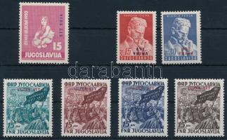 1952-1953 2 set and one stamp, 1952-1953 2 sor és egy önálló bélyeg