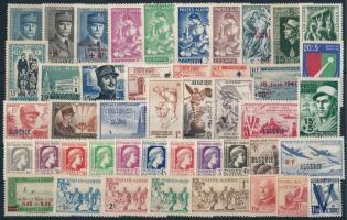 1938-1958 45 diff stamps, 1938-1958 45 db klf bélyeg, közte teljes sorok és önálló értékek stecklpaon