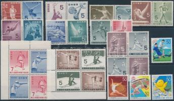 1957-2006 Sport 10 diff. sets + 4 diff. stamps, 1957-2006 Sport motívum 4 db bélyeg + 10 sor
