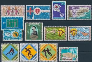1971-1973 2 sets + 8 diff. stamps, 1971-1973 2 db sor + 8 db bélyeg