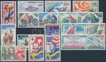 1976-1977 4 sets + 5 diff. stamps, 1976-1977 4 db sor + 5 db bélyeg