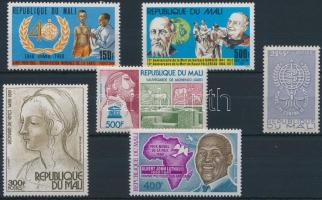 1976-1988 6 diff. stamps, 1976-1988 6 db bélyeg