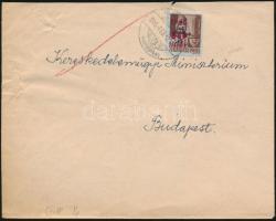 1946 (7. díjszabás) Távolsági levél Betűs TI.2./10f bérmentesítéssel