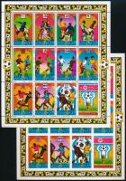 Football World Cup perforated and imperforated complete sheet, Labdarúgó világbajnokság fogazott és vágott teljes ív