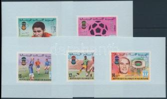 Sport, Football overprinted set in blockform, Sport; labdarúgás felülnyomott sor blokk formában