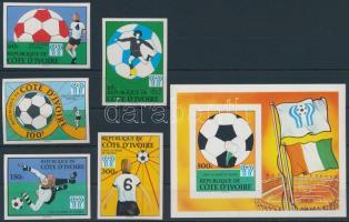 1978 Sport; labdarúgás sor Mi 552-556 + blokk Mi 12