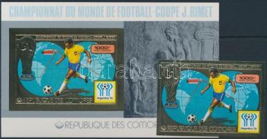 Sports; football stamp + block, Sport; labdarúgás bélyeg + blokk