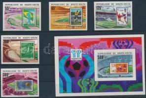 1977 Sport; labdarúgás sor Mi 700-704 + blokk Mi 48