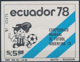 1978 Sport; labdarúgás blokk Mi 85