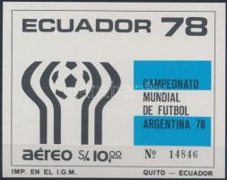 1978 Sport; labdarúgás blokk Mi 86