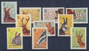 Huntable animals set, Vadászható állatok sor, Jagdbare Tiere Satz