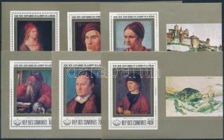 Dürer painting block set, Dürer festmény blokksor