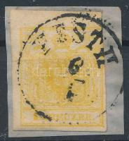 "1kr MP III. chrome yellow ,,PESTH"" Certificate: Steiner, 1kr MP III. krómsárga ,,PESTH"" Certificate: Steiner"