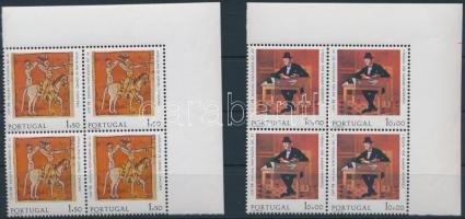 1975 Europa CEPT sor ívsarki négyestömbben Mi 1281-1282