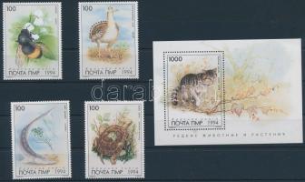 Republic of the Dniester Animal set + block, Dnyeszter Menti Köztársaság 1994 Állat sor + blokk