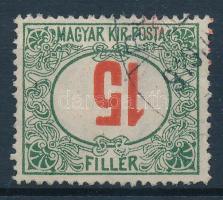 1915 Pirosszámú portó 15f fordított értékszámmal