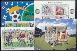 1988-1994 Sport 4 blocks, 1988-1994 Sport motívum 4 db klf blokk